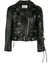 Acne Studios Petite Carry-over Biker Jacket - Black