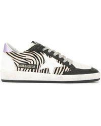 Golden Goose Deluxe Brand - Ballstar Zebra Trainers - Lyst