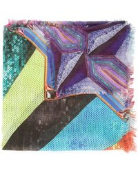 Mary Katrantzou - Sequin Stripe Scarf - Lyst