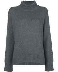 SMINFINITY - High Neck Knit Sweater - Lyst