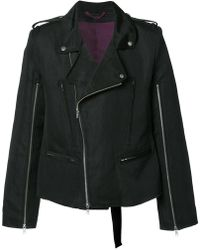 Ann Demeulemeester - Zip Up Biker Jacket - Lyst