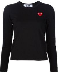 COMME DES GARÇONS PLAY - Heart Application Sweatshirt - Lyst