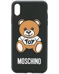 Moschino Funda para iPhone XS Max con motivo de osito - Negro