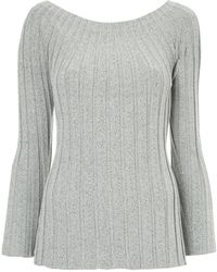 DES PRÉS - Boat Neck Ribbed Jumper - Lyst