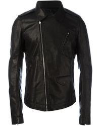 Rick Owens - Fitted Leather Jacket - Lyst