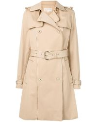MICHAEL Michael Kors - Piped Trim Trench Coat - Lyst