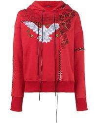 Alexander McQueen - Embroidered Cotton Hoodie - Lyst