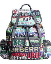 Burberry - The Large Rucksack In Graffiti Logo Print - Lyst