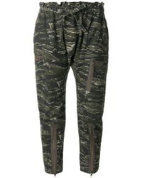 Current/Elliott - Aviation Cropped Trousers - Lyst