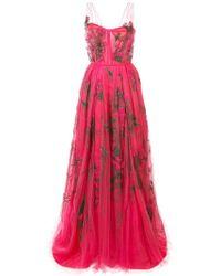 Carolina Herrera - Vestido de fiesta de tul bordado - Lyst