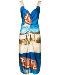 N°21 - Motel Midi Dress - Lyst
