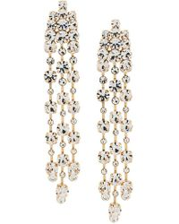 Alberta Ferretti - Crystal Drop Earrings - Lyst