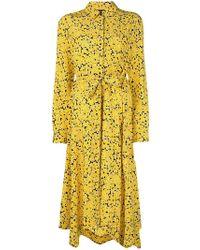 Cedric Charlier - Hemdkleid mit Blütenmuster - Lyst
