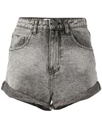 One Teaspoon - High Waisted Denim Shorts - Lyst