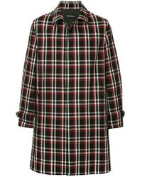 Undercover - Checked Single Breasted Coat - Lyst