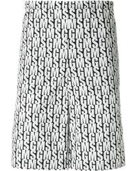 MSGM - Branded Bermuda Shorts - Lyst