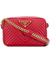 Prada - Quilted Logo Cross-body Bag - Lyst