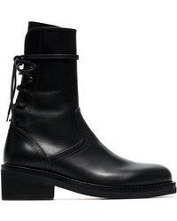 Ann Demeulemeester - 50 Lace-up Leather Boots - Lyst