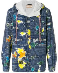 John Galliano   Lettering Print Hooded Jacket   Lyst