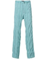 Haider Ackermann - Striped belted trousers - Lyst