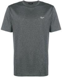 Ermenegildo Zegna - Embroidered Logo T-shirt - Lyst