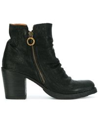 Fiorentini + Baker - Crease Effect Zip Ankle Boots - Lyst
