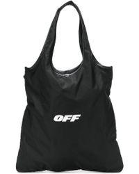 Off-White c/o Virgil Abloh - Bolso de hombro con logo estampado - Lyst