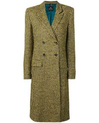 PS by Paul Smith - Double-breasted Fitted Coat - Lyst