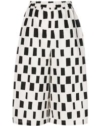 Junya Watanabe - Patterned High-waisted Cropped Trousers - Lyst