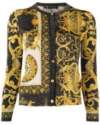 Versace - Signature Print Cardigan - Lyst