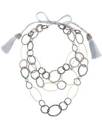 Night Market - Bead And Ring Layered Necklace - Lyst