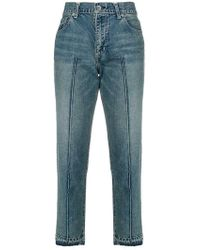 Sacai - Straight cropped jeans - Lyst