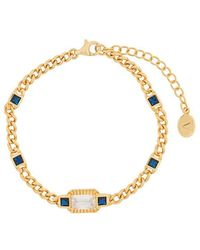 V Jewellery - Etta Blue And Gold Bracelet - Lyst