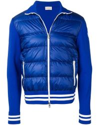 8f1922052645 Lyst - Moncler Padded Body Hoodie in Blue for Men