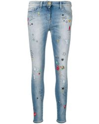 Elisabetta Franchi - Printed Skinny Jeans - Lyst