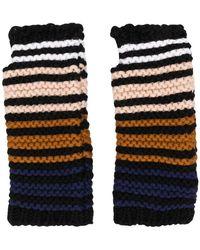 Sonia Rykiel - Colour-block Knitted Gloves - Lyst