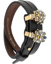 Alexander McQueen - Queen And King Skull Bracelet - Lyst