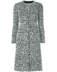Oscar de la Renta - Belted Textured Coat - Lyst