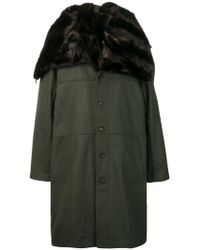 Y. Project - Oversized Fur Collar Coat - Lyst