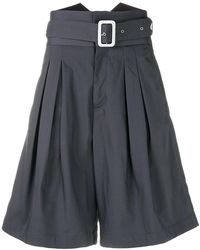 KENZO - High-waisted Belted Shorts - Lyst