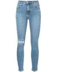 Nobody Denim - Cult Skinny Ankle Distressed Jeans - Lyst
