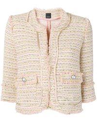 Pinko 3/4 Sleeve Tweed Jacket - Multicolour