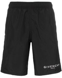 Givenchy - Long Logo Swim Shorts - Lyst