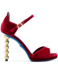 Loriblu - Carved Heel Sandals - Lyst