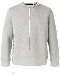 Craig Green - Lace-up String Detail Sweatshirt - Lyst