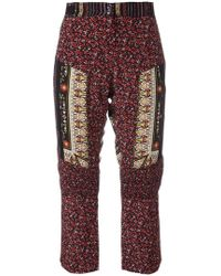 N°21 - Patchwork Cropped Trousers - Lyst