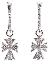Elise Dray - Diamond Cross Earrings - Lyst