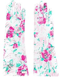 Prada - All Designer Products - Floral Print Gloves - Lyst