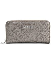 Love Moschino - Logo Embossed Wallet - Lyst