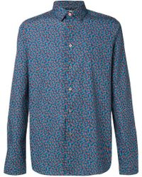 f6351be0d Paul Smith Midnight Print Shirt in Blue for Men - Lyst